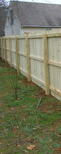 Columbia wood privacy fence